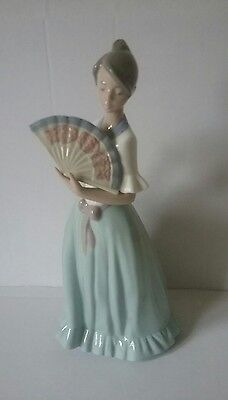 NAO by LLADRO FIGURINE SPLENDOROUS SUMMER Girl with Fan Retired Rare