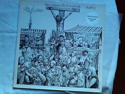 The Blood False Gestures 1990 Ex Red Re Punk Rare Damned Exploited Uk Subs Blitz