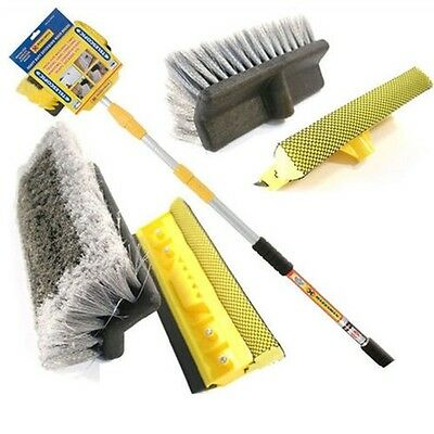 Telescopic Car Wash Brush Window Water Fed Cleaning Truck Van New Extendable