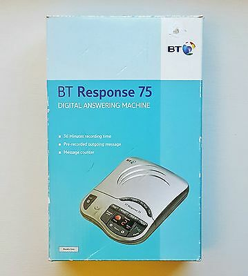 BT Response 75 Digital Telephone Answering Machine with Box and Manual