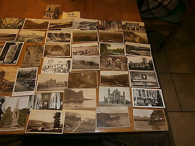 50 Old vintage postcard collection  places people scenery ref 46