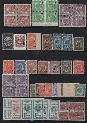 PERU/COLOMBIA: Mixed Collection of Used Revenues - Album Page (7059)