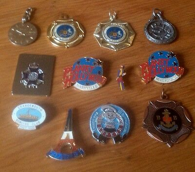 Enamel Badges Collectables Lot BB Watch Fobs TIMEX Shooting Medals Scotland