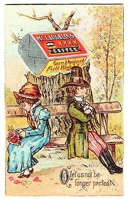 """Vintage Mclaughlin's Raosted Coffee Trade Card Size 3 1/4"""" x 2"""" Gorgeous"""