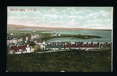Isle of Man - Port St. Mary General View. Posted c.1906