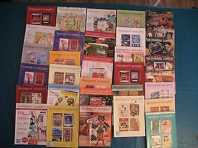 LOT of 30 Stampington Stampers' Sampler Inspiration Cards Rubber Stamps Magazine