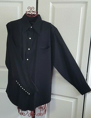 Vintage Rare George Lay Co. SanFrancisco Shirt Shop 100% Virgin Wool Pearl Snaps