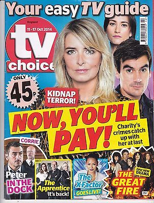 TV CHOICE Magazine 11 October 2014, Emmerdale, Charity's crimes catch her up