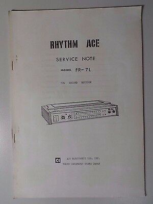 Rhythm Ace Service Note Manual FR-7L Ace Electronic Industries(Roland)  Original