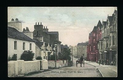 Isle of Man - Station Road Port St. Mary. Posted 1911