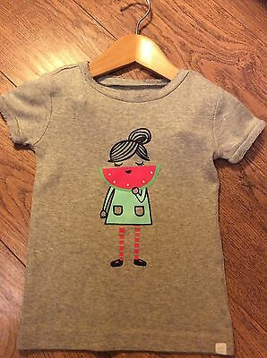 GAP Girls Watermelon Smile T-shirt Age 3 Years - Excellent Condition