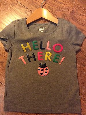 GAP Girls Ladybird Hello T-shirt Age 3 Years - Excellent Condition