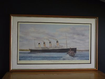 The TITANIC at Queenstown, signed by 2 survivors and artist SW Fisher