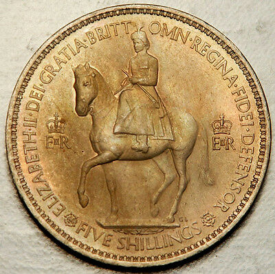 Great Britain Crown 1953 (Deeply Toned Unc!)