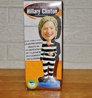 Hillary Cinton for prison Bobblehead  Doll