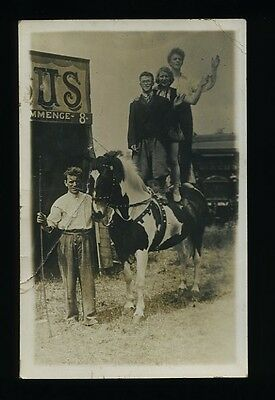 CIRCUS Horse / Pony Act c.1915 Real Photo