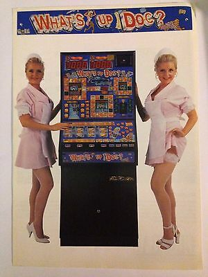 What's Up Doc Fruit Machine Flyer GLOBAL GAMES Fruit Machine Details