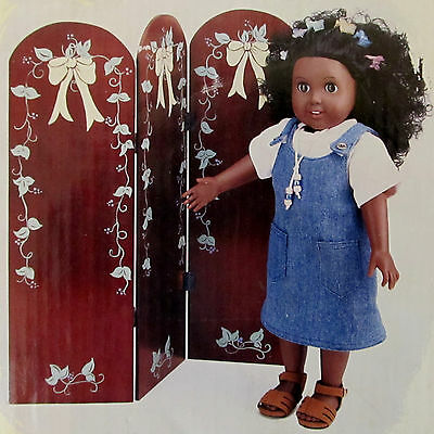 "The Springfield Collection Folding Woodend Screen for 18"" Doll Madame Alexander"