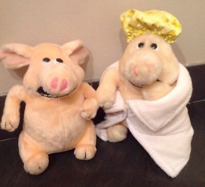 2  x Martin Creature Comfort Soft Plush Toys. Towel and Shower Cap