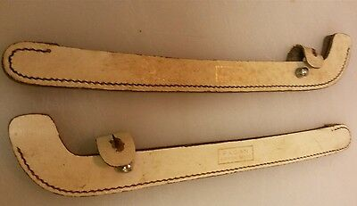 Vintage Fagan Leather Ice Skate Guards - British Made
