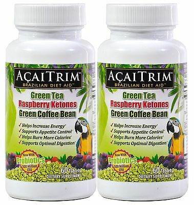 AcaiTrim Weight Loss Supplement 60 Count Bottle-2 PACK