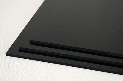 "3 MM Gloss Black Acrylic Sheet 1/8"" Thick 9.375"" X 13.25"" Plexiglass"