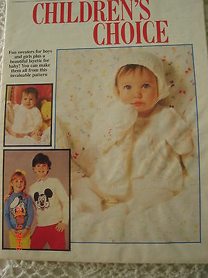 Knitting Pattern Woman Weekly Baby's Layette,Micky Mouse & Donald Duck Sweaters