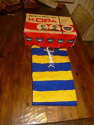 ancien maillot de rugby kopa neuf avec sa boite vintage rugby shirt collection