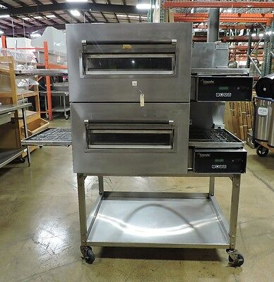 Used Lincoln Impinger 1132 Commercial Electric Double Conveyor Oven