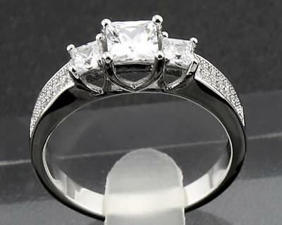 2.51 Carat  Natural  Diamond 14KT Solid White Gold Cocktail Rings 9#