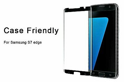 New 2017 Samsung Galaxy S7 Edge Tempered Glass Screen Protector Case Friendly