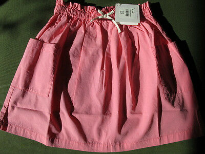 NWT HANNA ANDERSSON perfect pink Poplin Skirt, Girls 130 (7-8) $29