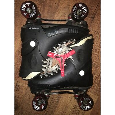 SFR - Raptor Adults Skate - Black/Red- Adult Quad Skates With NEW Airwave Wheels