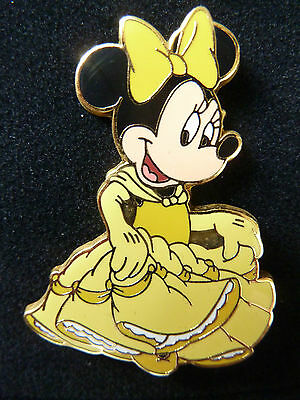Disney Wdw Minnie Mouse Princess Series Belle Beauty & The Beast Pin 2003 Rare