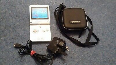 nintendo gameboy advance sp Silver comes with one game and case