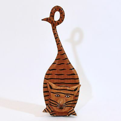Indonesia CAT Doorstop Hand-Carved & Hand-Painted