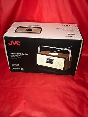 JVC RA-DS77 Portable DAB+/FM Stereo Clock Radio With Colour Display