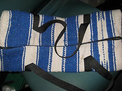 Navajo Western Bridle BAG Carrier Horse Shows Blue White Blk Tack Carrier Zipper