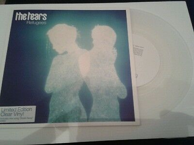 """THE TEARS • Refugees •  7"""" single • clear vinyl • SUEDE Brett Anderson"""