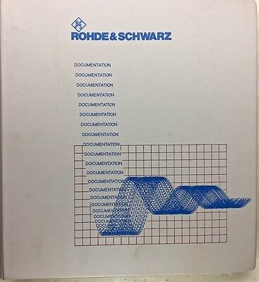 Rohde & Schwarz Signal Generator SML01/02/03 Operating Manual 1090.3123.19-04