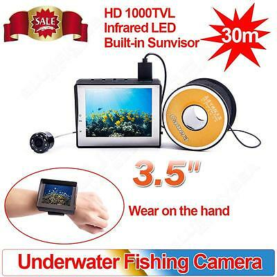 """3.5"""" LCD 30M Infrared Underwater Video Camera System Fish Finder Fishing Camera"""