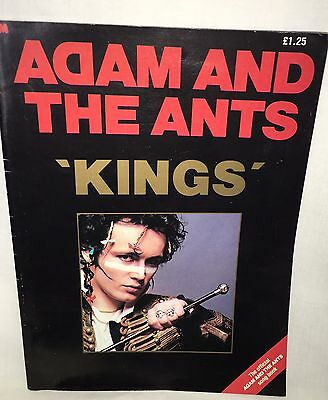 """Cool Vintage Adam & The Ants """"Kings"""" Official Songbook"""