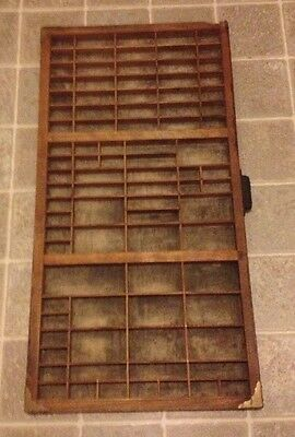 "LARGE HAMILTON PRINTER TRAY DRAWER CASE SHADOW BOX 32"" x 16.5"" - NICE"