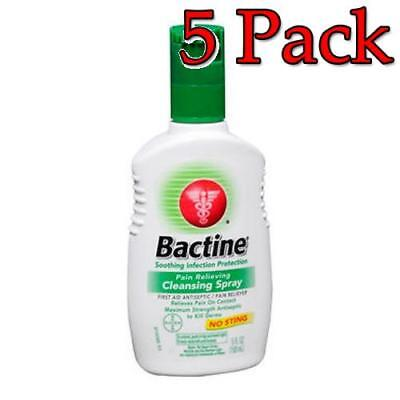Bactine Pain Relieving Cleansing Spray, 5oz, 5 Pack 365197810055T492