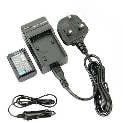 DSTE NP-FH50 Rechargeable Battery + Travel and Car Charger For Sony A230 A330