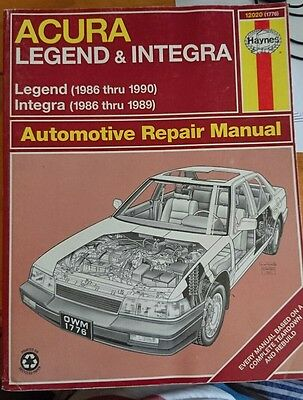 Acura Legend & Legend Repair Manual 86-90