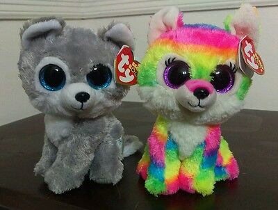 """Ty Beanie Boos Set River and Warrior 6"""" - Great Wolf Lodge Exclusive - New Rare"""
