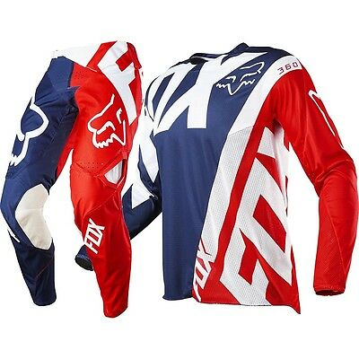 Fox Racing 2017 Mx NEW LE 360 Creo MXoN Blue Red Jersey Pants Motocross Gear Set