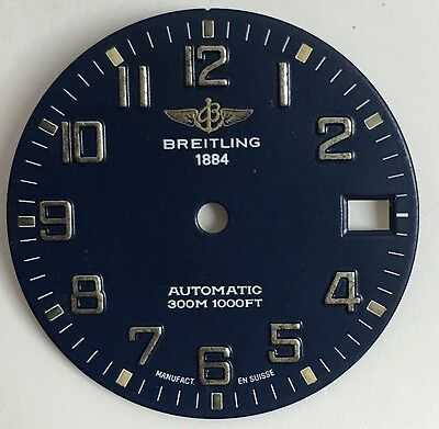 Genuine Breitling Lady Automatic 300M 1000Ft Blue Dial 27Mm