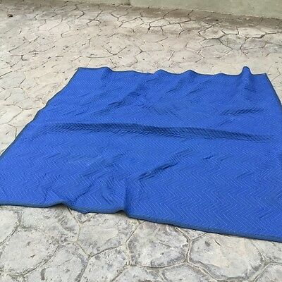 """Moving Blankets,  Professional Quilted Blue/Black; 72"""" X  80"""""""